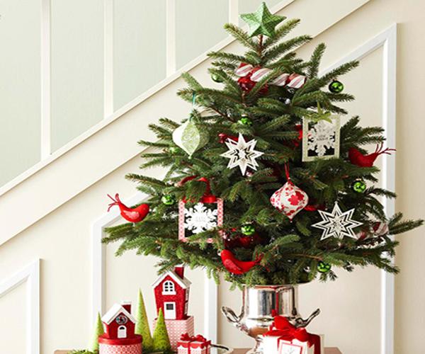 Een mini-kerstboom